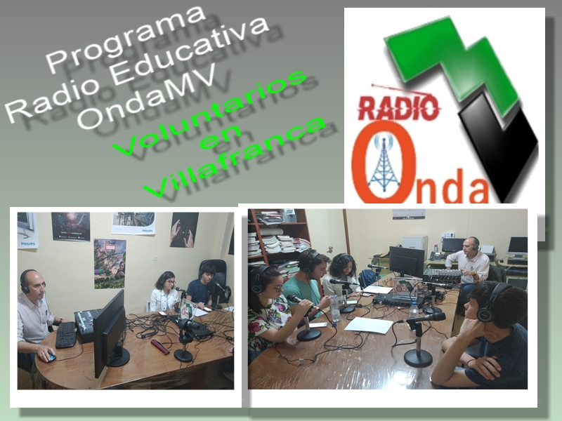 Collage Voluntarios en Villafranca